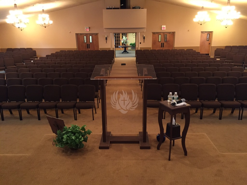 New Bertolini Impressions Series Church Chairs at Yorktown Assembly of God, in New York